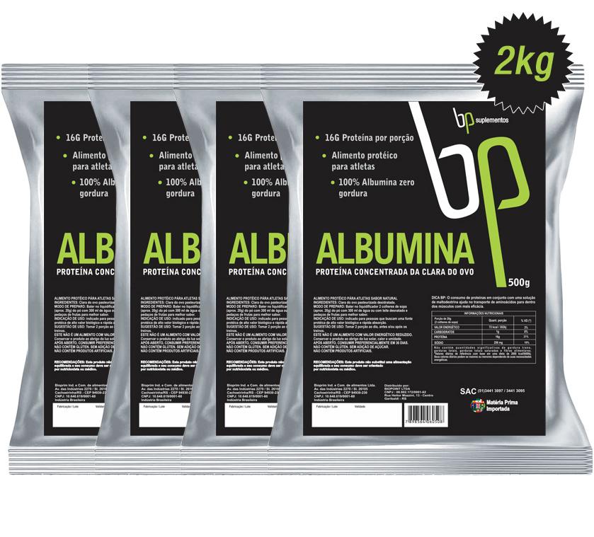 Kit Albumina BP Suplementos com Frete Grátis
