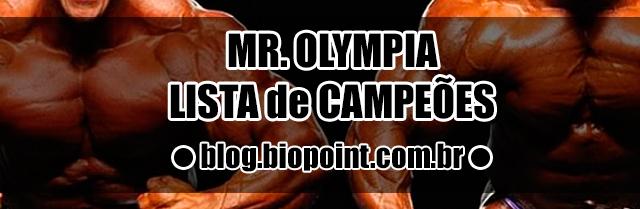 Campeões Mr. Olympia