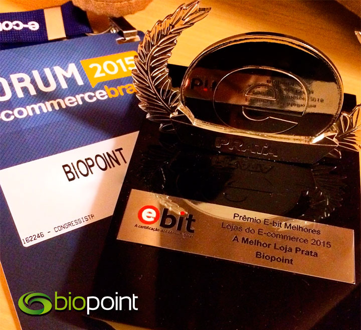Biopoint melhor loja prêmio e-bit 2015