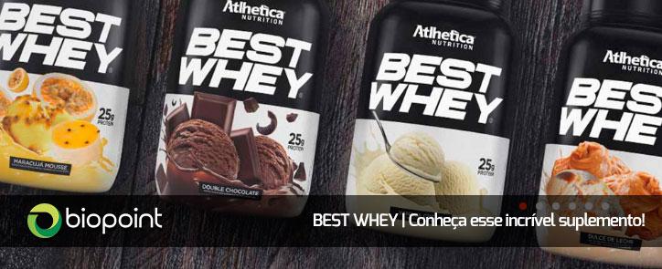 Conheça o Best Whey da Atlhetica Nutrition