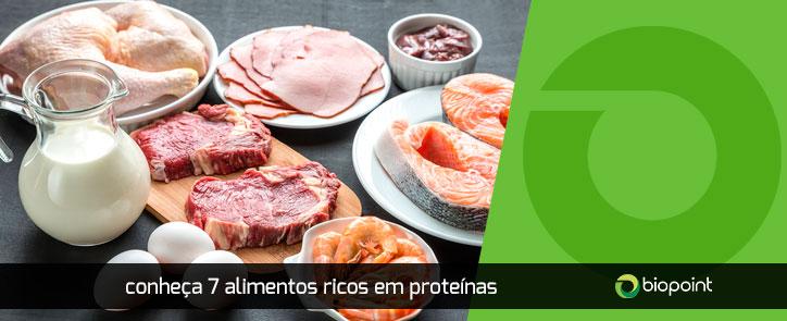 7 alimentos ricos em proteinas