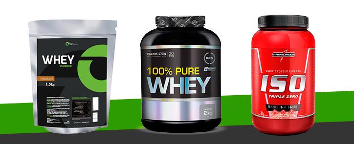 Os melhores tipos de Whey Protein