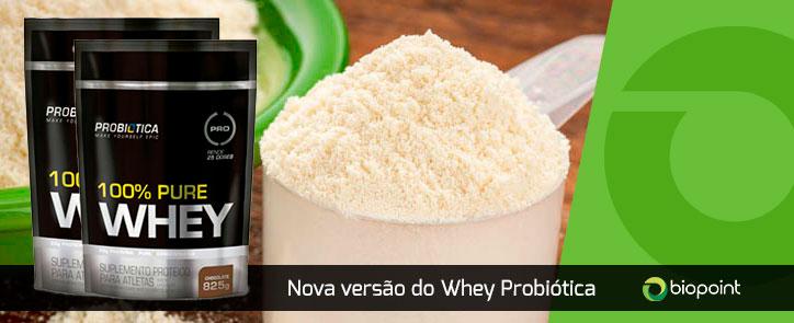 novo 100 pure whey probiotica saco