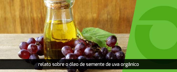 relato oleo semente uva organico