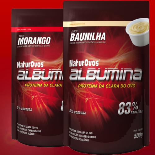 Lançamento Albumina Naturovos com sabor