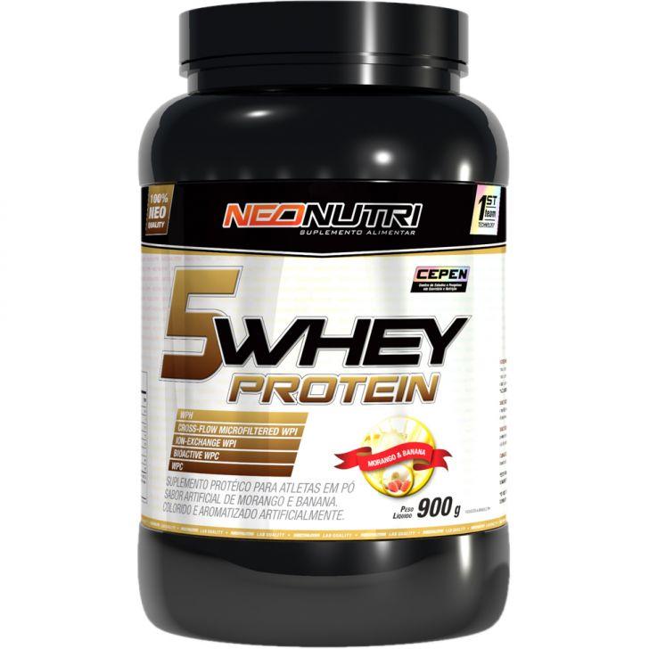 Lançamento 5 Whey Protein Neo Nutri