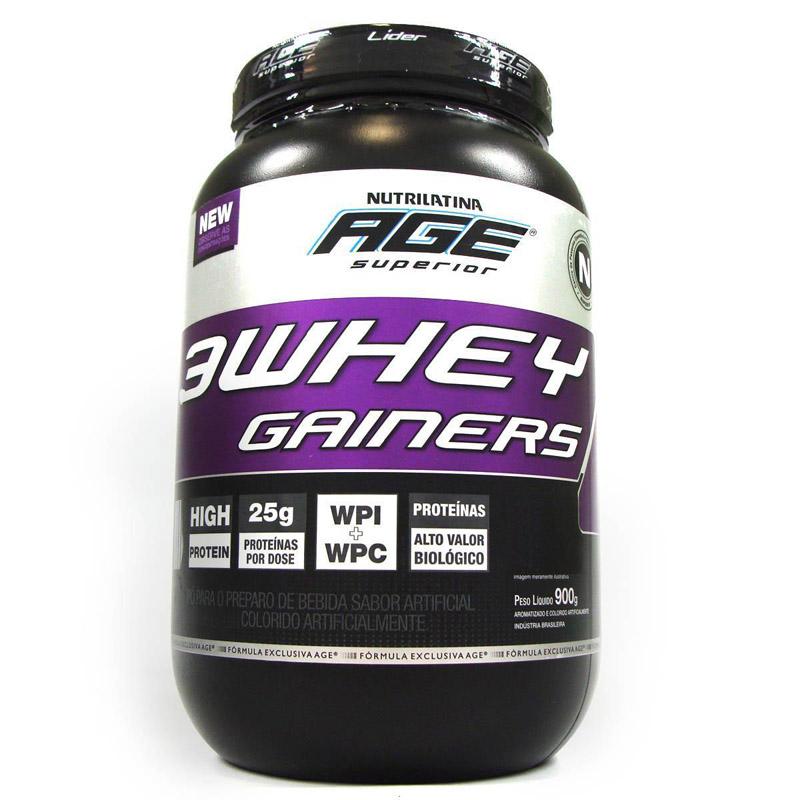 Lançamento: 3 Whey Gainers Nutrilatina AGE