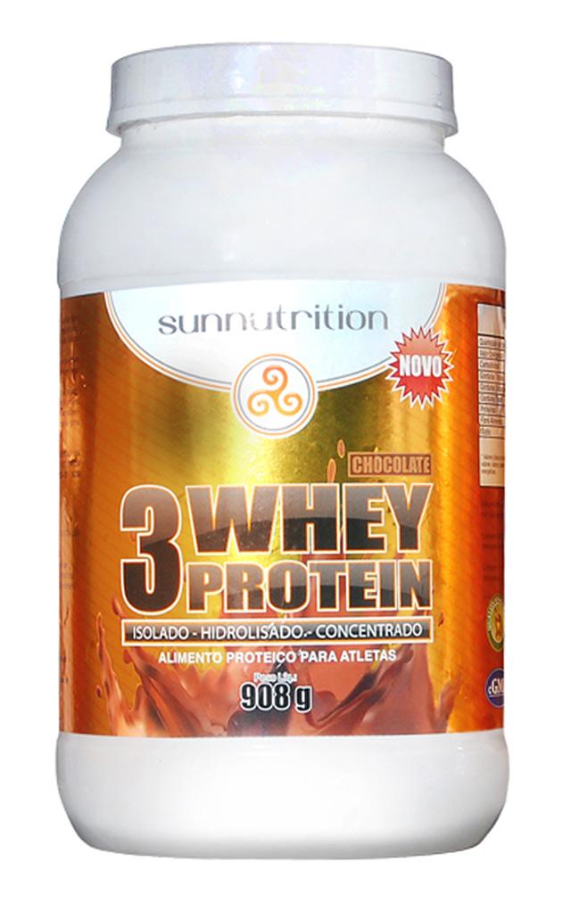Suplemento do Dia: 3 Whey Sunnutrition