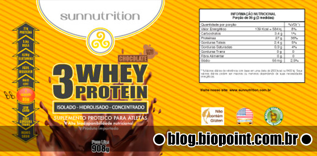 Relato 3Whey Protein Sunnutrition