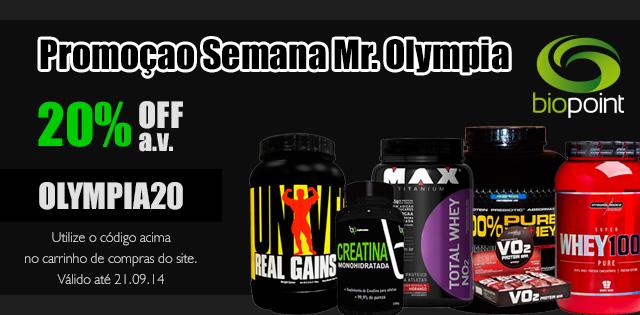 Promoção Mr Olympia 2014 Biopoint