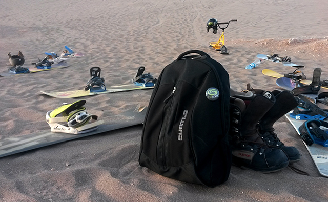 Equipamentos para Sandboard no Valle de la Muerte