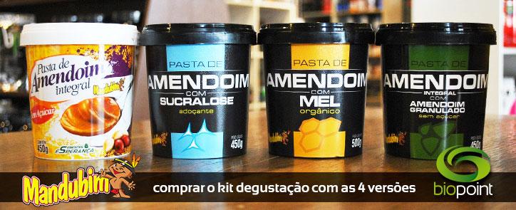 Comprar kit degustação Pastas de Amendoim