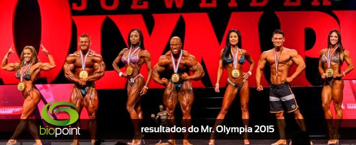 Resultados vencedores mr. olympia 2015