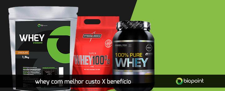 ae10b9e4d Whey Protein melhor custo X benefício