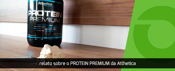 Relato sobre o Protein Premium da Atlhetica