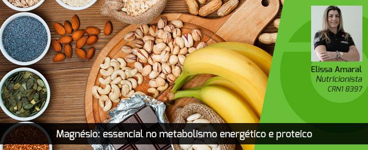Magnésio: essencial no metabolismo energético e proteico