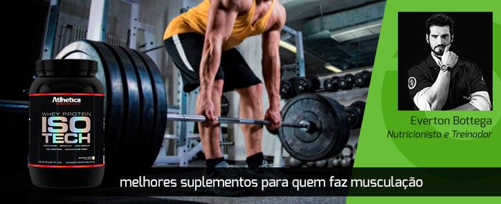 Os melhores suplementos para quem pratica musculação